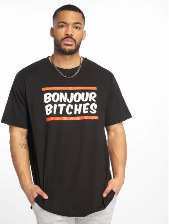 mister-tee-manner-t-shirt-bonjour-in-schwarz