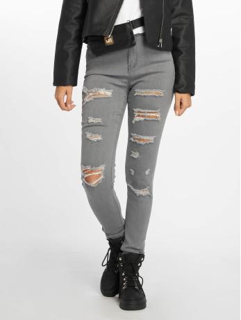 glamorous-frauen-skinny-jeans-ladies-in-grau