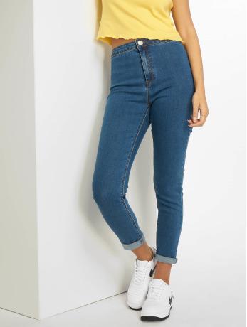 glamorous-frauen-skinny-jeans-ladies-in-blau