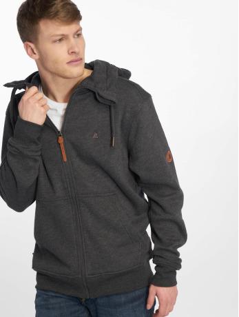 alife-kickin-manner-zip-hoodie-trasher-in-schwarz