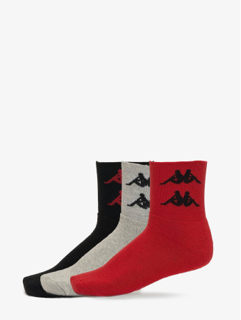 kappa-manner-frauen-socken-evan-quarter-3er-pack-in-rot