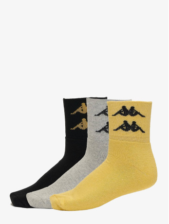 kappa-manner-frauen-socken-evan-quarter-3er-pack-in-gelb