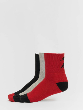 kappa-manner-frauen-socken-etimo-quarter-3er-pack-in-rot
