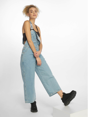 the-ragged-priest-frauen-latzhose-relaxed-fit-dungarees-in-blau