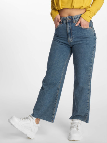 the-ragged-priest-frauen-high-waist-jeans-grip-cropped-skater-in-blau