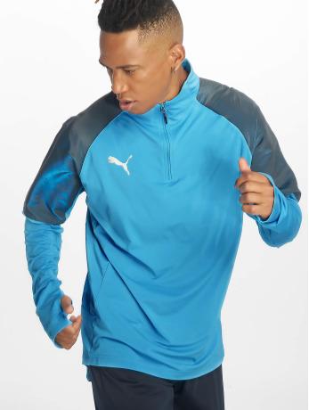 puma-performance-manner-trainingsjacken-1-4-zip-in-blau