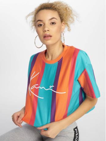 karl-kani-frauen-t-shirt-signature-stripe-in-bunt