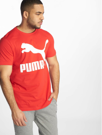 puma-manner-t-shirt-classics-logo-in-rot