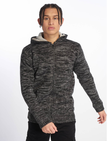 urban-classics-manner-zip-hoodie-winter-knit-in-schwarz