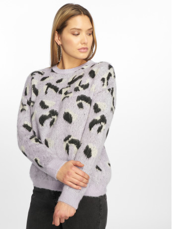 new-look-frauen-pullover-animal-in-violet