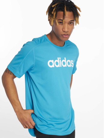 adidas-performance-manner-sportshirts-cool-logo-in-blau
