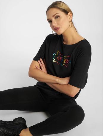 na-kd-frauen-t-shirt-rainbow-in-schwarz
