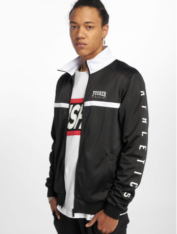 pusher-apparel-manner-ubergangsjacke-athletics-in-schwarz