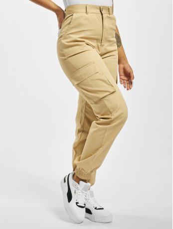 missguided-frauen-cargohose-plain-in-beige