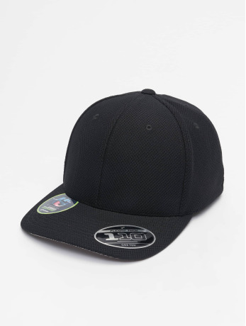 flexfit-manner-frauen-snapback-cap-110-velcro-hybrid-in-schwarz