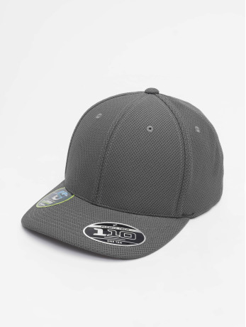 flexfit-manner-frauen-snapback-cap-110-velcro-hybrid-in-grau