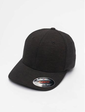 flexfit-manner-frauen-flexfitted-cap-natural-melange-in-schwarz