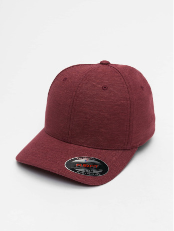 flexfit-manner-frauen-flexfitted-cap-natural-melange-in-rot