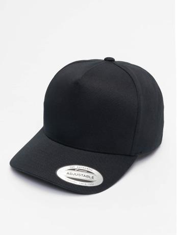 flexfit-manner-frauen-snapback-cap-5-panel-curved-classic-in-schwarz