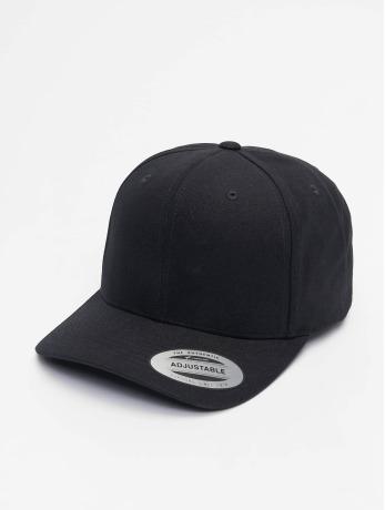 flexfit-manner-frauen-snapback-cap-6-panel-curved-metal-in-schwarz
