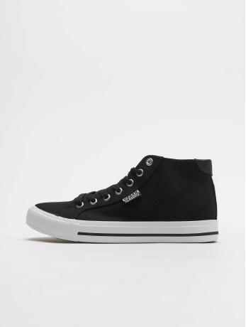 urban-classics-manner-frauen-sneaker-high-top-canvas-in-schwarz