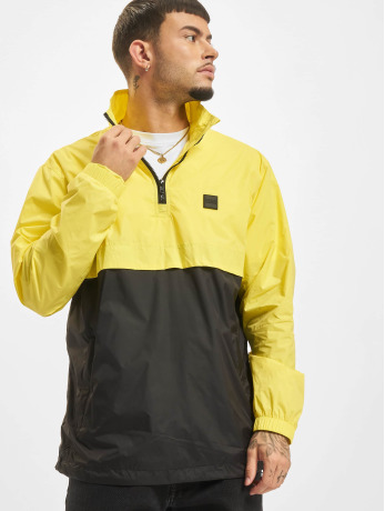 urban-classics-manner-ubergangsjacke-stand-up-collar-pull-over-in-gelb