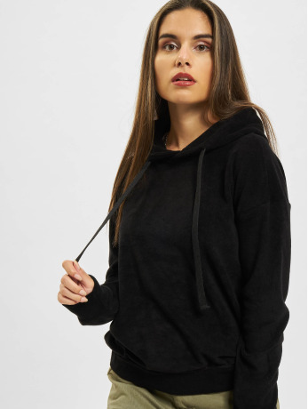 urban-classics-frauen-hoody-towel-in-schwarz