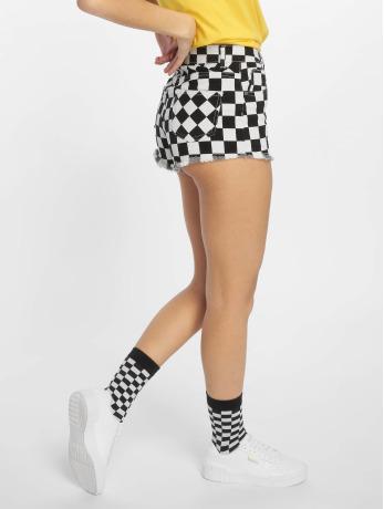 urban-classics-frauen-shorts-check-twill-in-schwarz