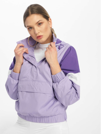 urban-classics-frauen-ubergangsjacke-light-3-tone-pull-over-in-violet