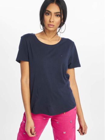 tommy-jeans-frauen-t-shirt-soft-jersey-in-blau