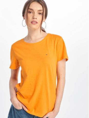 tommy-jeans-frauen-t-shirt-jersey-in-gelb