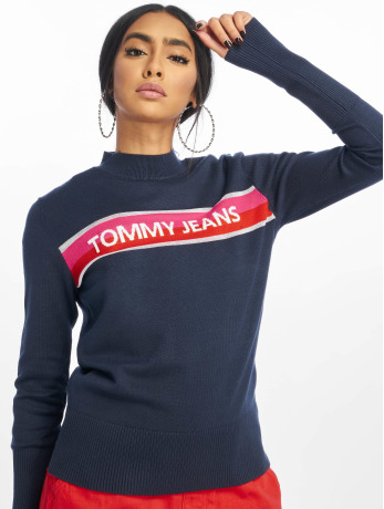 tommy-jeans-frauen-pullover-graphic-stripe-in-blau