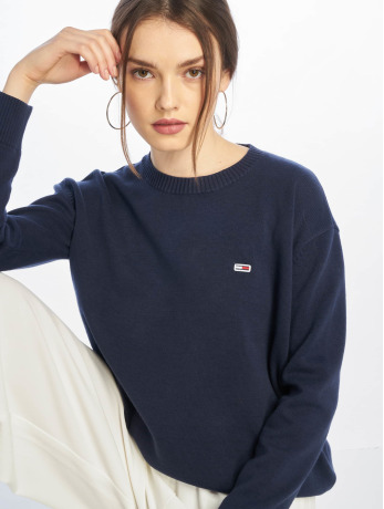 tommy-jeans-frauen-pullover-classics-in-blau
