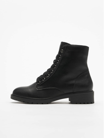 new-look-frauen-sneaker-charles-pu-lace-up-chunky-in-schwarz