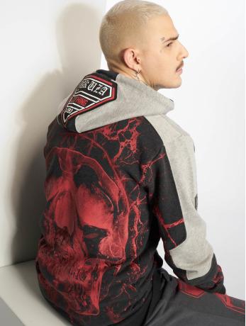 yakuza-manner-zip-hoodie-marble-in-schwarz
