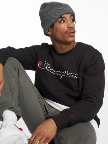 champion-rochester-manner-pullover-crewneck-in-schwarz