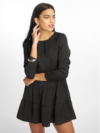 missguided-frauen-kleid-long-sleeve-smock-in-schwarz