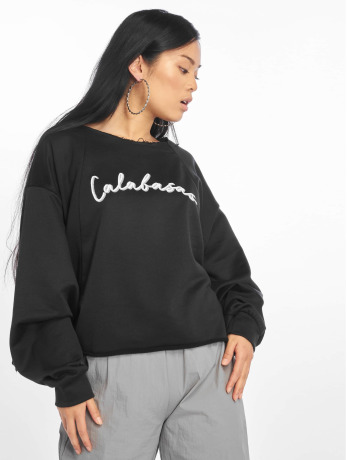 missguided-frauen-pullover-calabasas-oversized-sweat-in-schwarz