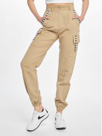 missguided-frauen-cargohose-sand-sports-tape-in-beige
