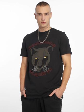 criminal-damage-manner-t-shirt-panther-in-schwarz