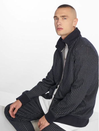 criminal-damage-manner-ubergangsjacke-pinstripe-in-blau