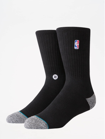 stance-manner-socken-nba-on-court-collection-logoman-crew-in-schwarz