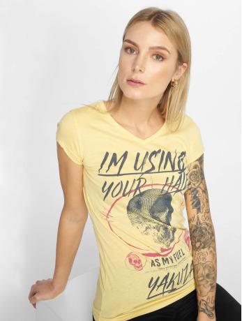 yakuza-frauen-t-shirt-your-hate-in-gelb