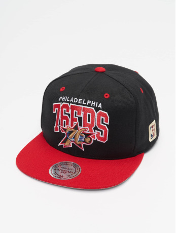 mitchell-ness-manner-frauen-snapback-cap-philadelphia-76ers-hwc-team-arch-in-schwarz