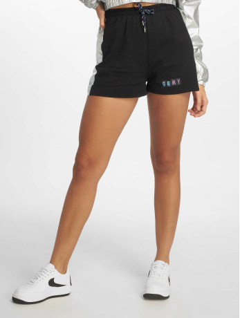 grimey-wear-frauen-shorts-fluid-planet-in-schwarz