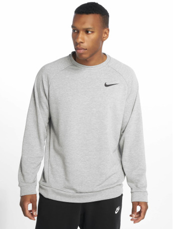 nike-performance-manner-sportshirts-dry-fleece-crew-in-grau