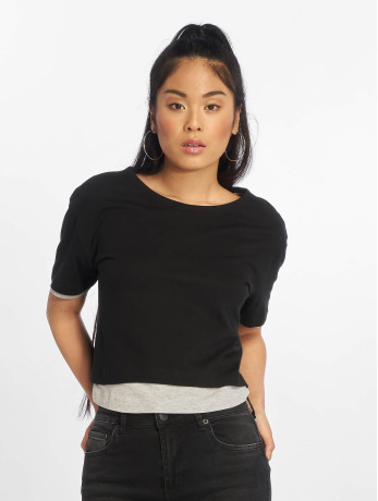 urban-classics-frauen-t-shirt-full-double-layered-in-schwarz