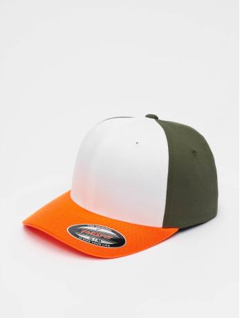 flexfit-manner-frauen-flexfitted-cap-3-tone-in-orange