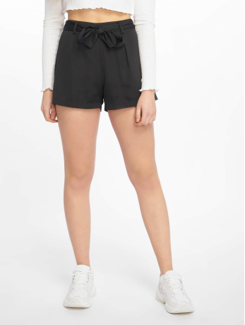 missguided-frauen-shorts-tie-waist-detail-crepe-in-schwarz