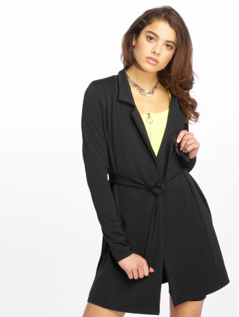 missguided-frauen-kleid-long-sleeve-belted-blazer-in-schwarz